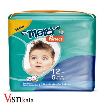 پوشک کودک مرسی سایز 5 بسته 12 عددی