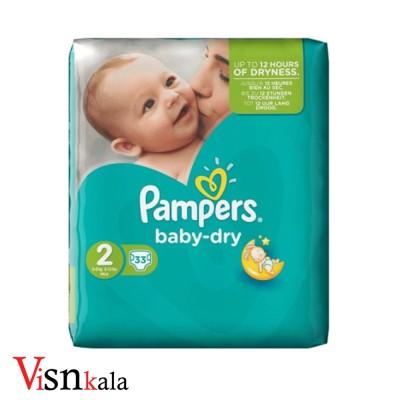 پوشک کودک پمپرز Baby Dry سایز 2 بسته 33 عددی