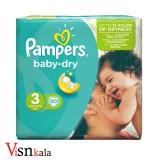 پوشک کودک پمپرز Baby Dry سایز 3 بسته 30 عددی