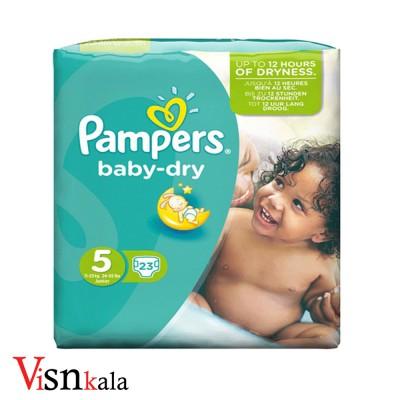 پوشک کودک پمپرز Baby Dry سایز 5 بسته 23 عددی