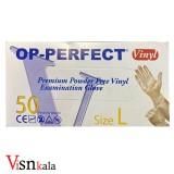 دستکش وینیل 50 عددی Op _ Perfect سایز L