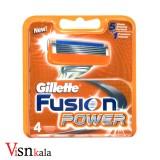تیغ یدک پنج لبه Fusion Power ژیلت چهار عددی صابوندار